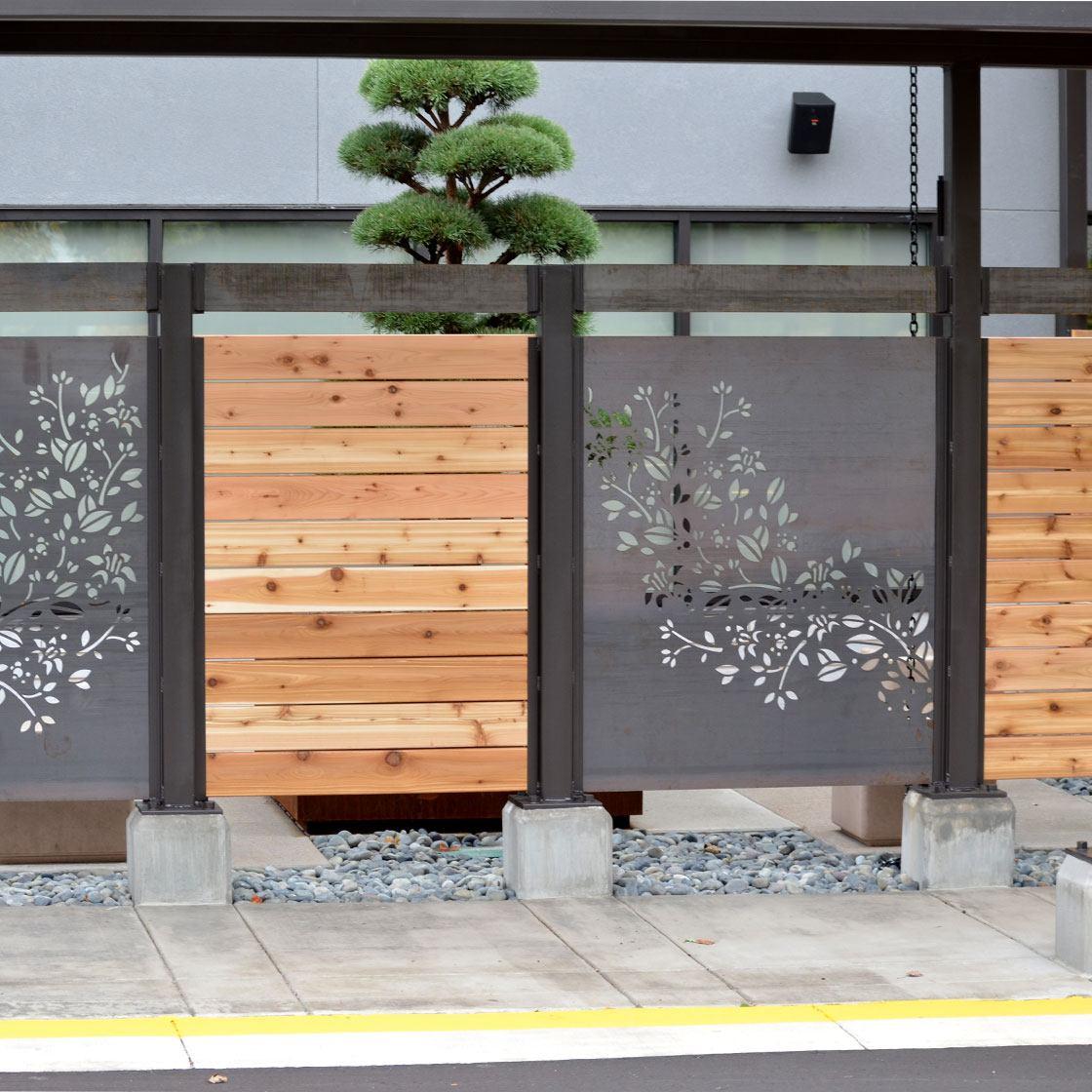 A decorative fence