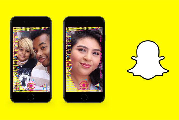 Snapchat filter mockup