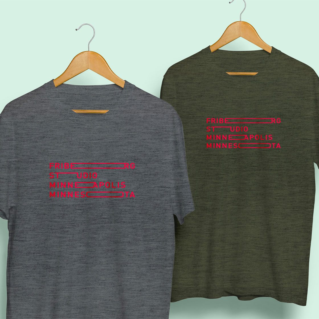 Screen printed t shirts with ken friburg logo