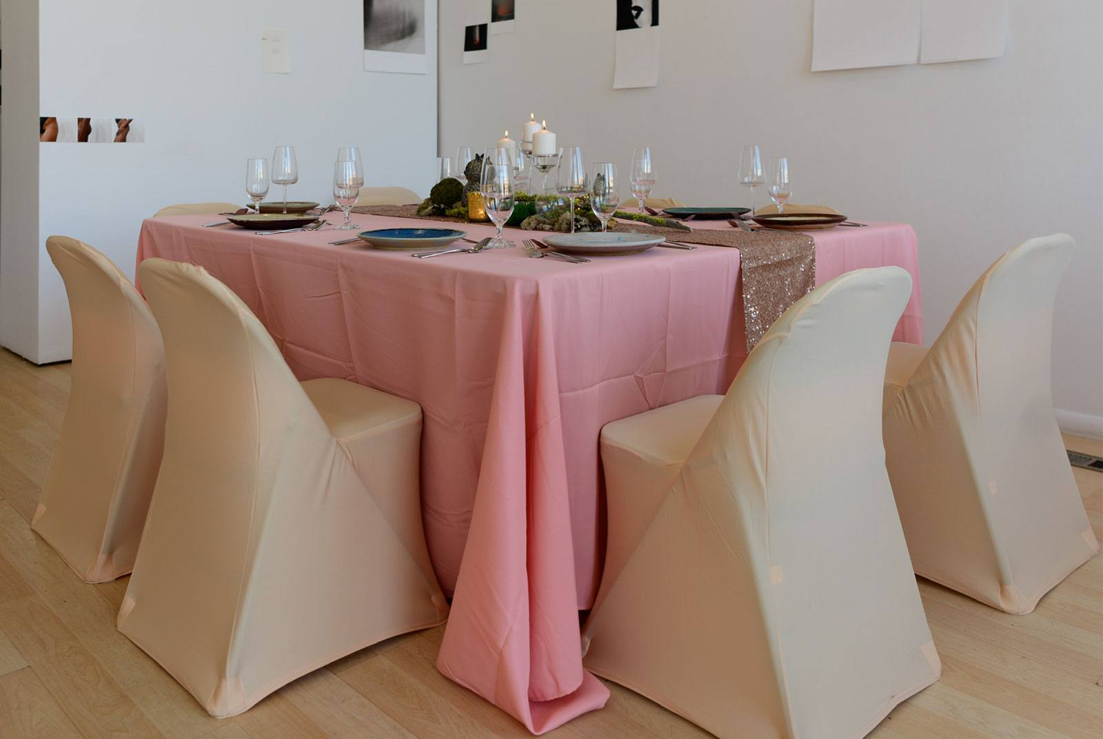 A decorative table setting