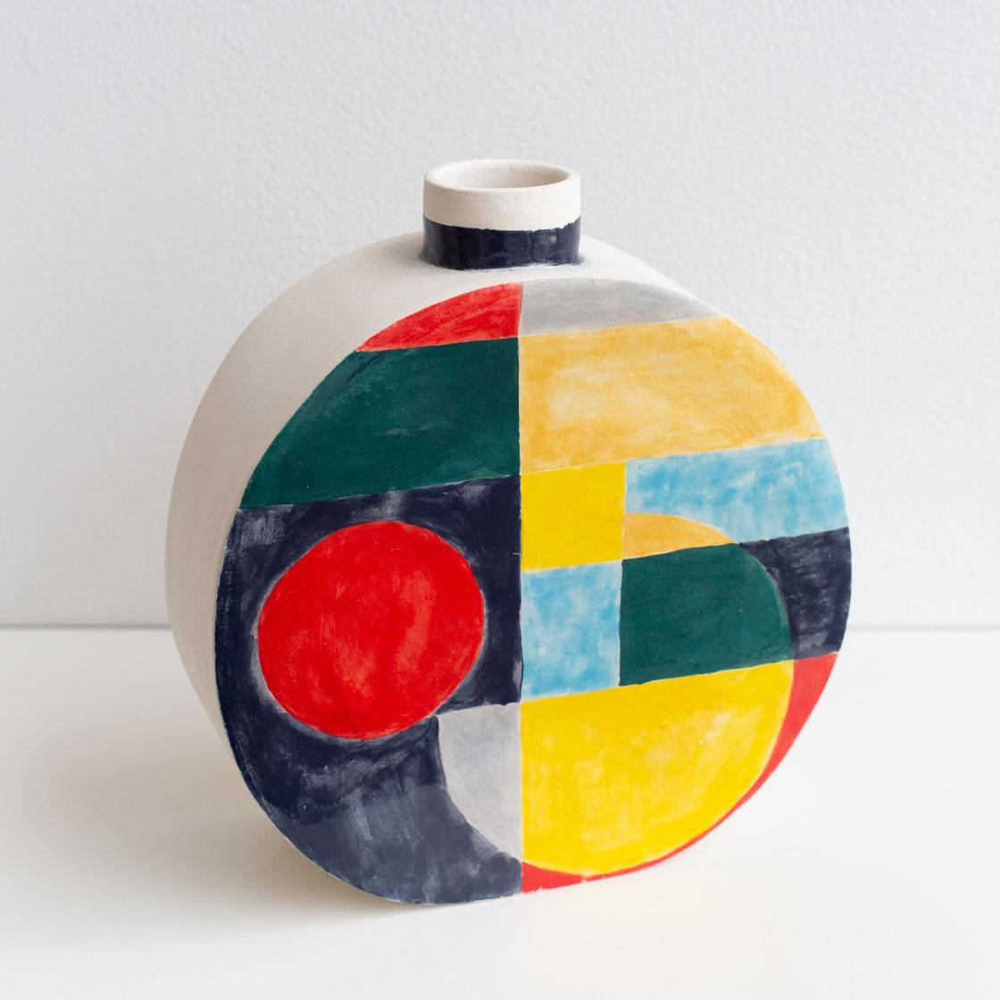 25th anniversary pattern ceramic vase