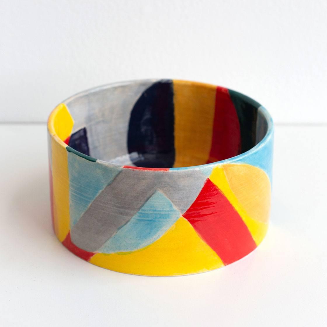 25th anniversary pattern ceramic bowl