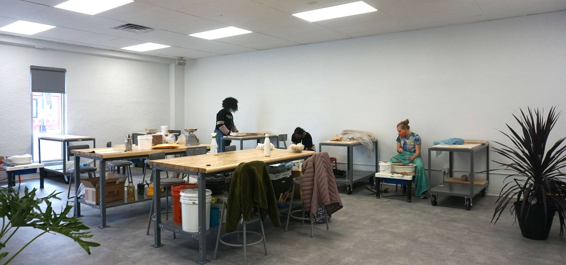 The new 1108 ceramics studio being used by JXTA apprentices.