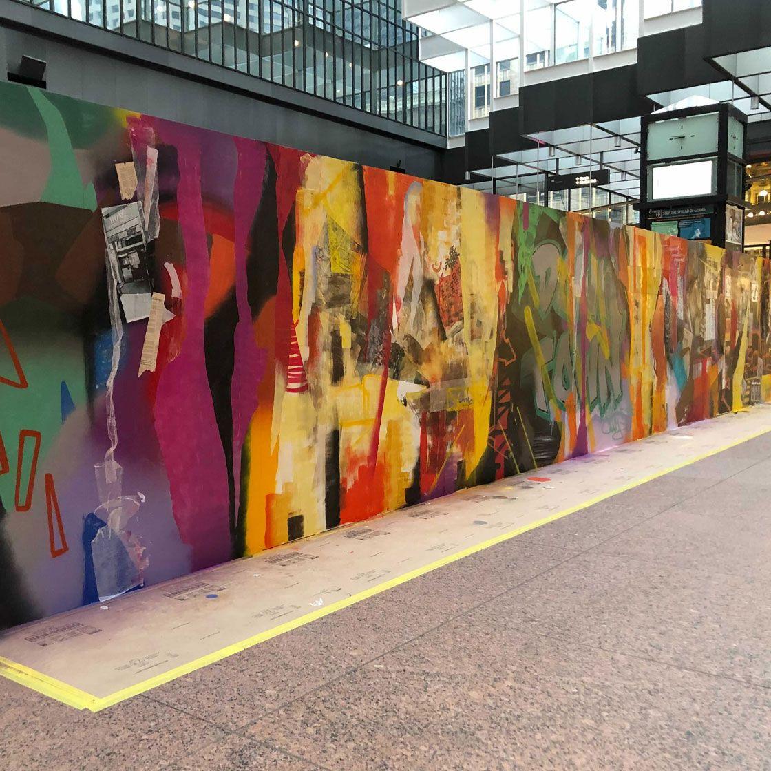IDS center mural