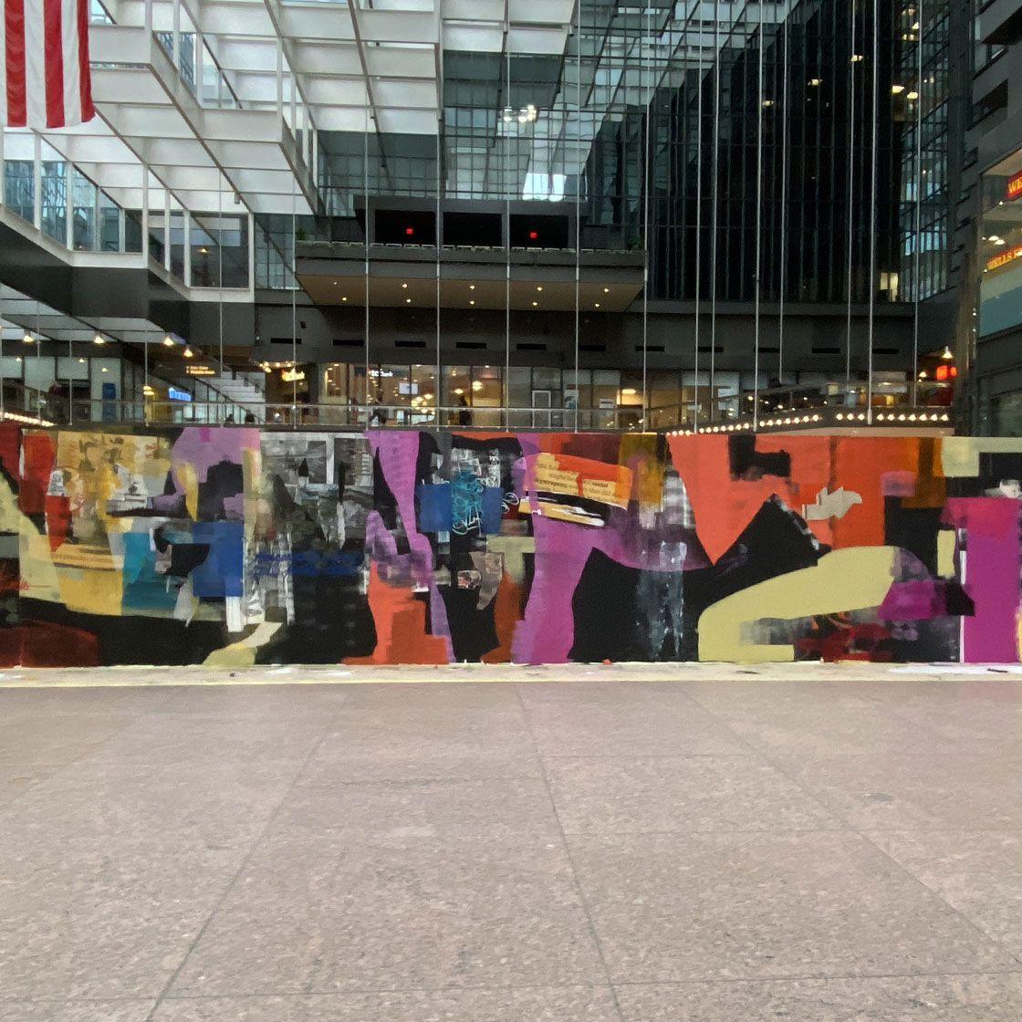 IDS center murals