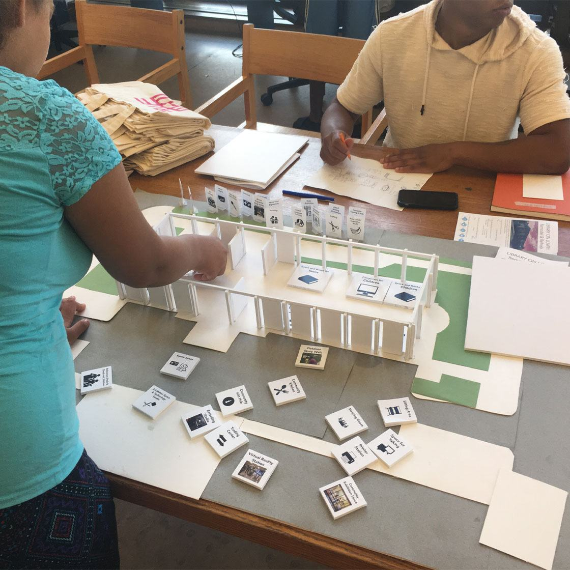Tactical Lab leads an engagement for the redevelopment of North Regional Library through model mockups with visitors
