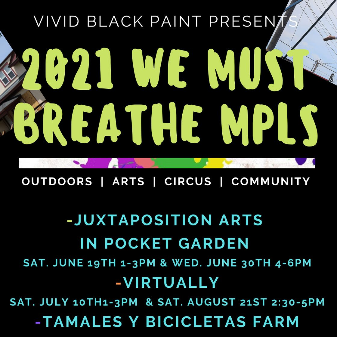 We must breathe circus pop up